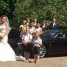 wedding party with aston marton